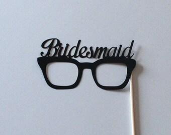 Bride & Groom Wedding Party Photo Booth Props - Bridesmaid