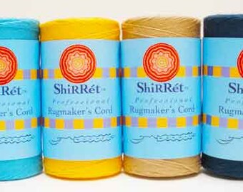 Shirret Rug makers' 100% Cotton 4-ply Long Spun Cord is strong, to last.