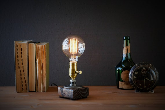 Lamp/Mothers day gift/Rustic Home decor/Farmhouse decor/Table lamp/Industrial lighting/Steampunk lamp/housewarming/gift for men/desk lamp