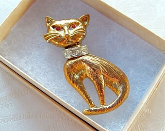 Cat Pin, Vintage Pin, Gift for Her