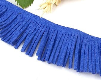 a fringe suedine stripe blue paillete by 20cm