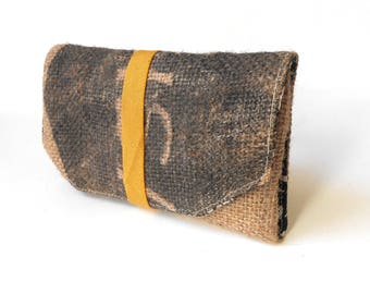 Tobacco pouch - tobacco pouch in Burlap - OOAK