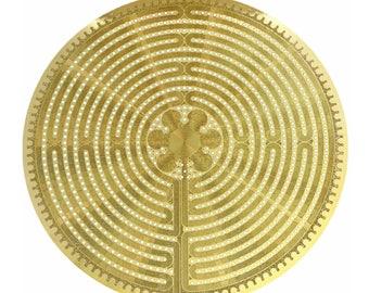 Labyrinth 6inch 18k Gold plated Healing Grid  YA-669