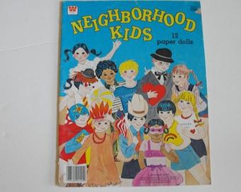 CLEARANCE - Neighborhood Kids Paper Dolls Unpunched Original 12 Dolls  (248)