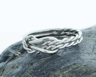 Thick Infinity Knot Ring, Thumb Ring, Thick Knot Ring, Men's Infinity Ring, Men's Infinity Knot Ring, Men's Ring, Wedding Band, Gift for Him