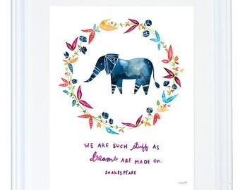 Shakespeare Quote, Constellation painting, Watercolor Art Print, Nursery Decor, Meera Lee Patel