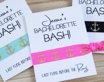 Bachelorette Gift Hair Tie Favors | Bachelorette BASH! | PERSONALIZED Bachelorette Favor | Hair Ties | Last Fling Before the Ring | 1ct