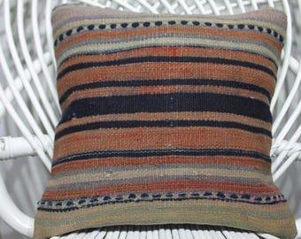 14x14 morocco cushion brown kilim ottoman kilim 35cm 35cm preppy pillow 14x14 modern pillow antique rug bolster cover ethnic cushion  295