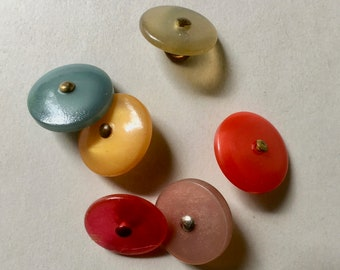 """6 - 5/8"""" Shoe Style Buttons in Choice of Colors for Sewing and Crafts"""