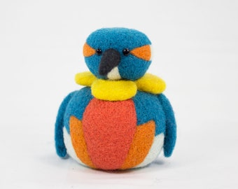 Needle Felted Kingfisher Scuplture