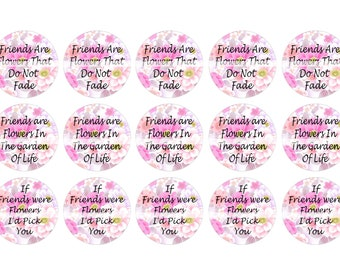 FRIENDS Bottle Cap Images Instant Download Digital Printable Images Bottlecap 1 Inch Circle