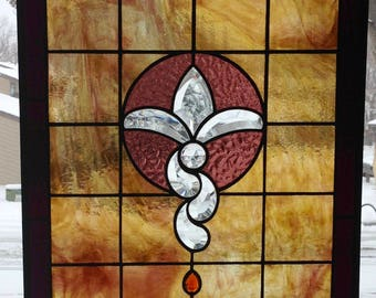 "Stained Glass Bevel Window Panel...""Amrita""..."