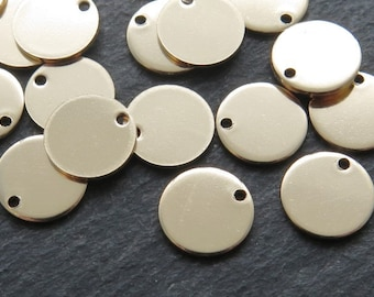Gold Filled Round Tag Disc 9mm