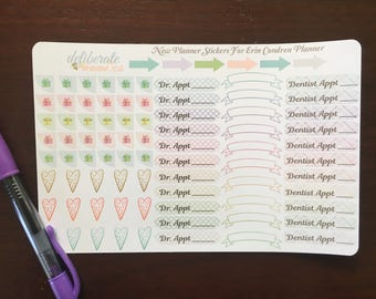 New Planner Stickers -- made to fit Erin Condren Planner