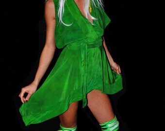 Sprite Dyed Silk Dress