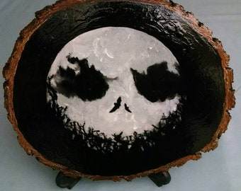 Rustic Nightmare Before Christmas Plaque