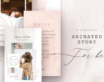 Instagram Stories Templates - Animated social media templates Photoshop media template