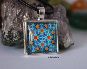 Zellige mosaic Oriental Moroccan Arabesque pendant