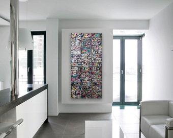 Graffiti Art - Metal Wall Art - Contemporary Wall Art - Urban Art - Large Abstract Art - Hipster Art - Large Wall Art - Original Painting