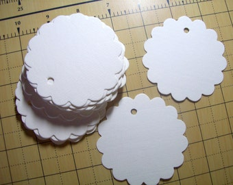 Wedding Tag, Gift Tags, Set of 50, Wedding Favor, Price Tag, Scallop Tag
