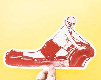 George 'Seinfeld TV Series' Big Individual WATERPROOF Sticker - Vinyl Stickers -Hand Drawn Sticker - Handmade Sticker