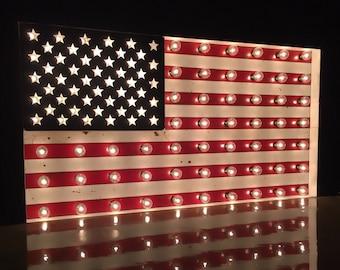 America Flag Marquee