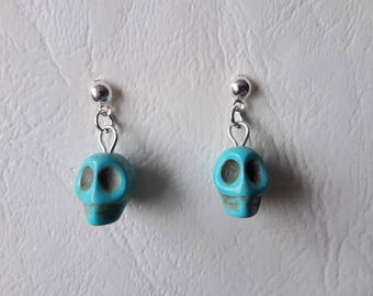 Mexican skulls - turquoise earrings