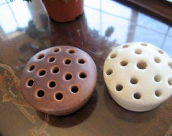Vintage Round Flower Frogs   Circa 1940s            Set of two