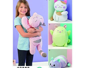 Simplicity Pattern 8403 Stuffed Kitties. Pattern is new and uncut.