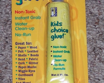 Kids Choice Glue,2 oz,no run,instant grab,water clean-up,non-toxic,crafting,art projects