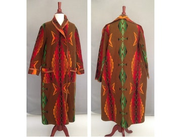 PENDLETON Rare Blanket Coat / Vintage 1920s 1930s Pendleton Robe / Made from Pendleton Blanket in 20s or 30s / I ship World Wide, Convo Me