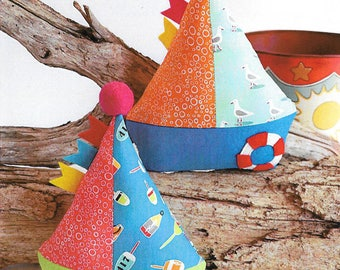 """Pattern """"Little Boats"""" Softie/Toy Pattern by Ric Rac (RR742) Sewing Card Instructions"""