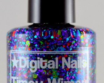 Timey Wimey: A wibbly wobbly Doctor Who inspired glitter nail polish by Digital Nails