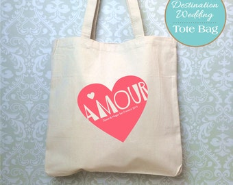 Destination Wedding Bag, Design Proof Only, Italian wedding, Wedding Tote, Customized Wedding Bag, Amore bag, Bride tote bag, Wedding gift
