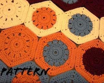 CROCHET PATTERN Granny Hexagon Pattern