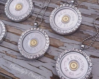 Shotgun, Shell, Necklace, Locket, Jewelry, Birthstone, 12 Gauge, Pendant, Bullet, Silver, Rose Gold, Remington, Hunter, Gift, Ammo, Country
