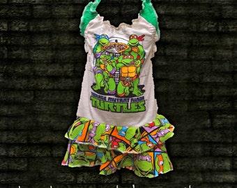 Girls Ruffled Halter Dress. 3T 4T 5T, toddler, child, ChopShopBitch