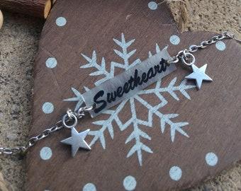"""""""Sweetheart"""" shrink plastic bracelet"""