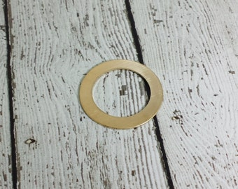 "Nu Gold Washer 1-1/4"" x 3/4"" - 20G Nu Gold Washer Stamping Blank"
