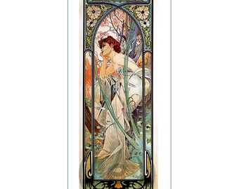 fabric panel - painting by Alphonse Mucha (37). For sewing, patchwork, quilting.