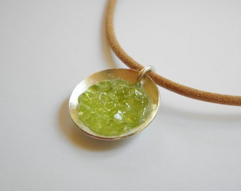 Lime Jello Peridot Gemstone Pendant/Necklace