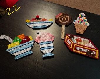 6pc. Sweet treat magnet set
