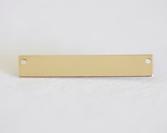 31mm x 5mm Blank 14K Gold Filled Bar Connector to Personalize - horizontal 14/20 gf 24 gauge connector bar, great for stamping