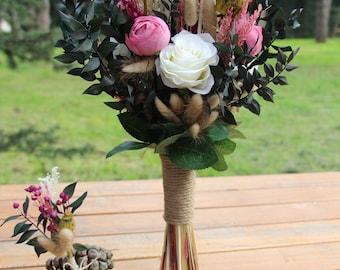 Wedding Flower Natural Wedding Flowers Dried and Silk Flowers flower bouquet, wedding arches,  raspberry wedding bouquet