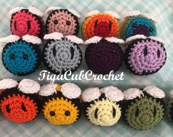 Crochet Mini Bumble Bee Insect Bug Spring Easter Animal Cute Amigurumi Plush Made To Order