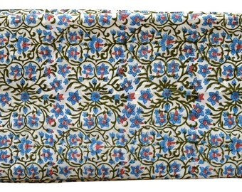 1 to 50 Yards Indian Block Printed Cotton Printed Fabric