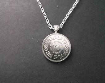 Egypt  Coin Necklace -  Egyptian Coin Pendant