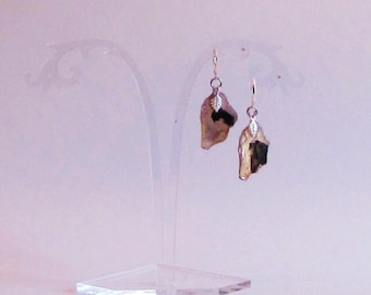 Natural Black and White Mica Earrings