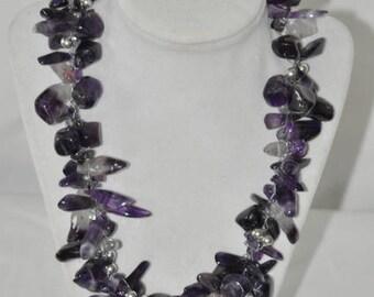 Amethyst gem necklace