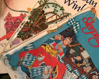 3 x Award Classic Fairy Tale books 1978 & 1980 Rip Van Winkle Sleeping Beauty Pied Piper of Hamelin CLASSICS!